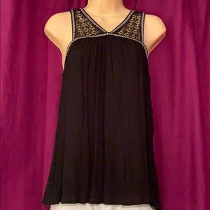 Very cute black tank blouse